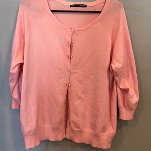 Maurices Peach button up cardigan